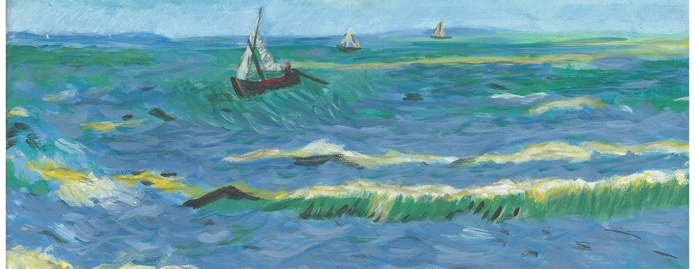 """""""View of the Sea at Saintes-Maries"""" – Vincent Van Gogh, 1888"""