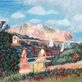 """The Banks of the Seine"" – Pierre-Auguste Renoir, 1880"