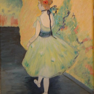 """Dancer in Green"" – Edgar Degas, 1878"