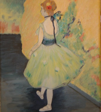 Dancer in Green by Edgar Degas, 1878