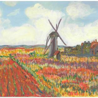 """Champ de tulipes, Hollande"" – Claude Monet, 1886"