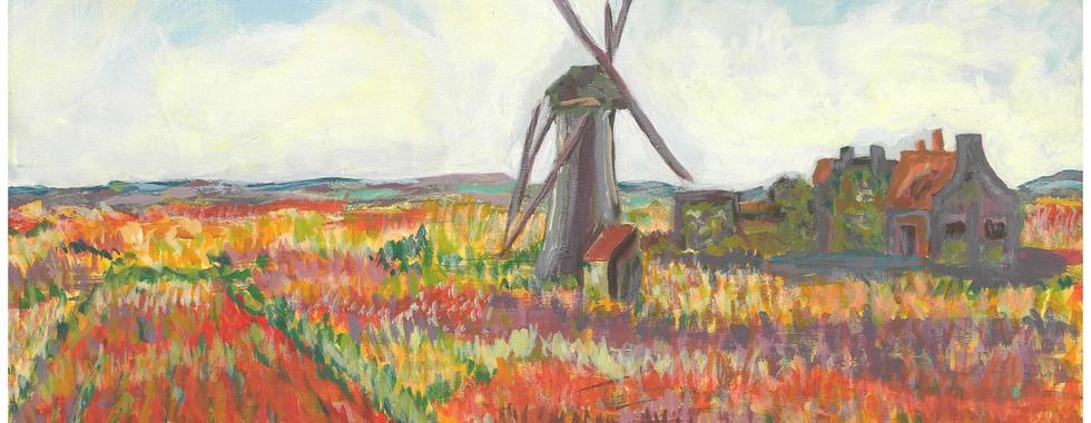 Champ de tulipes, Hollande – Claude Monet, 1886