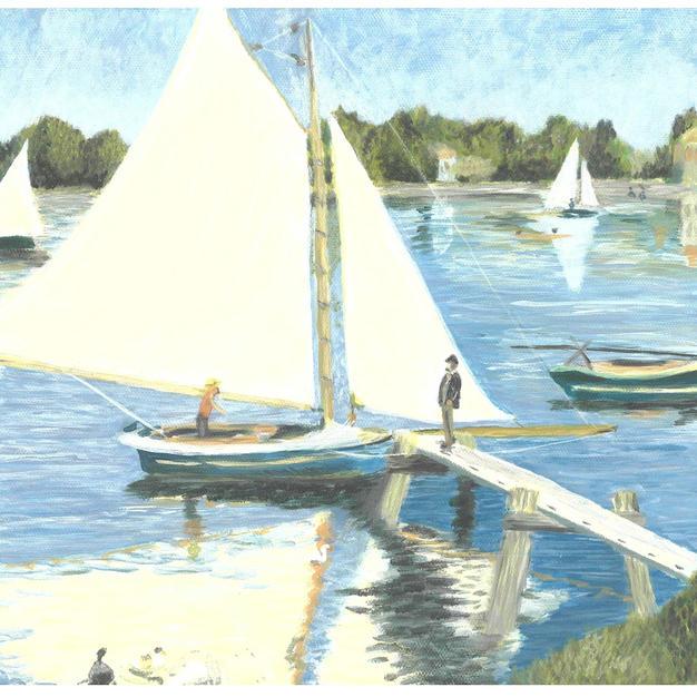 """The Seine at Argenteuil"" – Pierre-Auguste Renoir, 1873"
