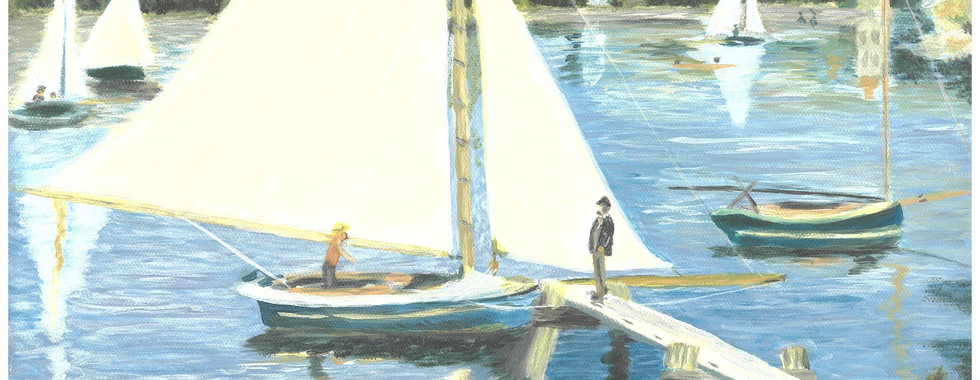 The Seine at Argenteuil – Pierre-Auguste Renoir, 1873