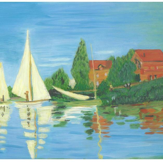 """""""Regatta at Argenteuil"""" – Claude Monet, 1872"""