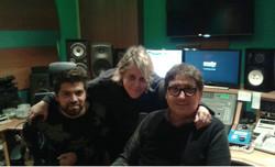 con Oscar Mediavilla y Adrian