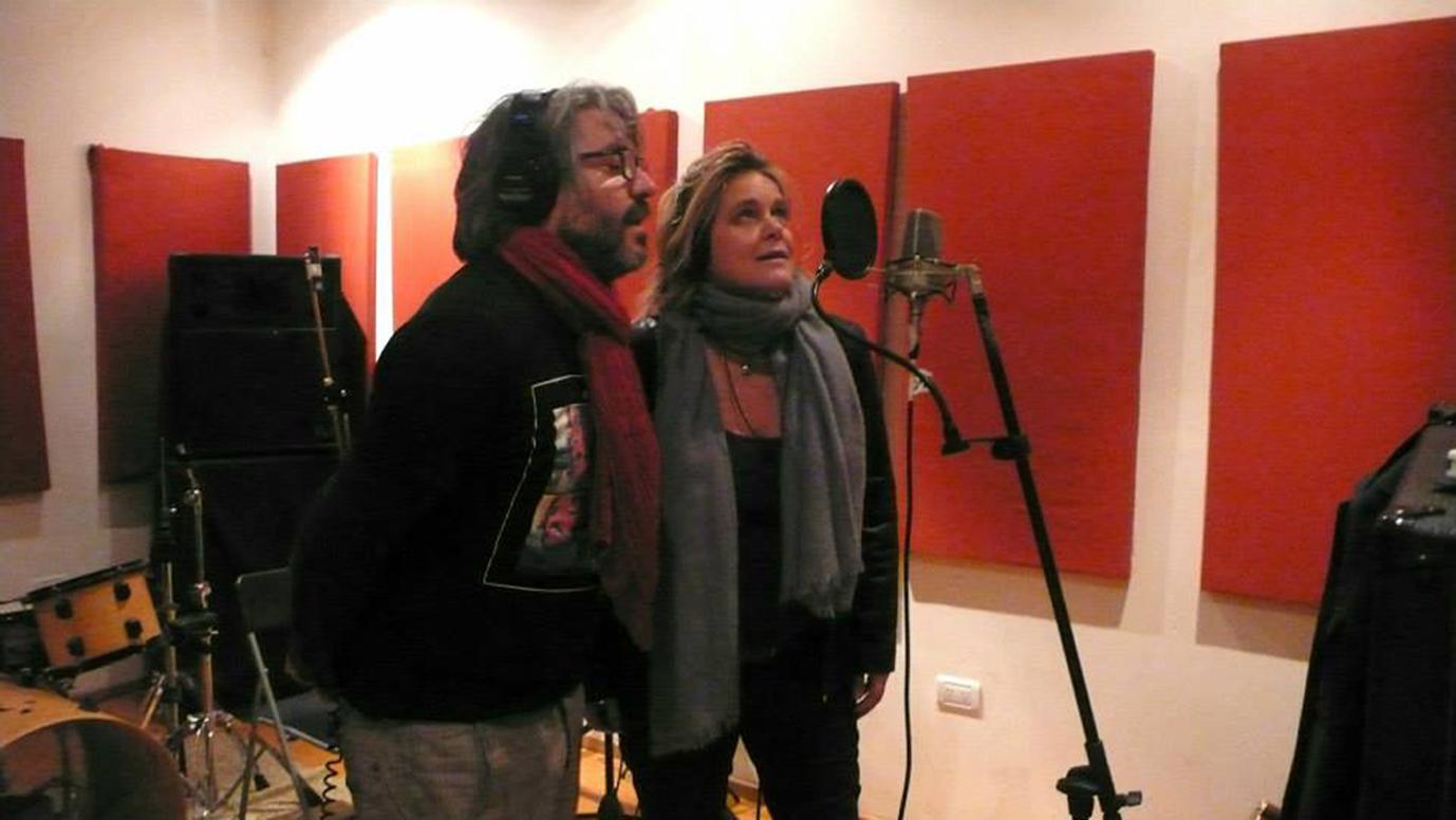 grabando con Manuel Moretti