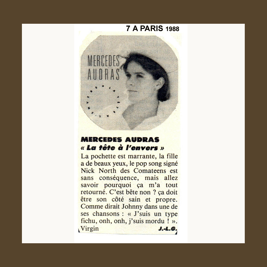 7 A PARIS MAGAZINE FRANCE 1988