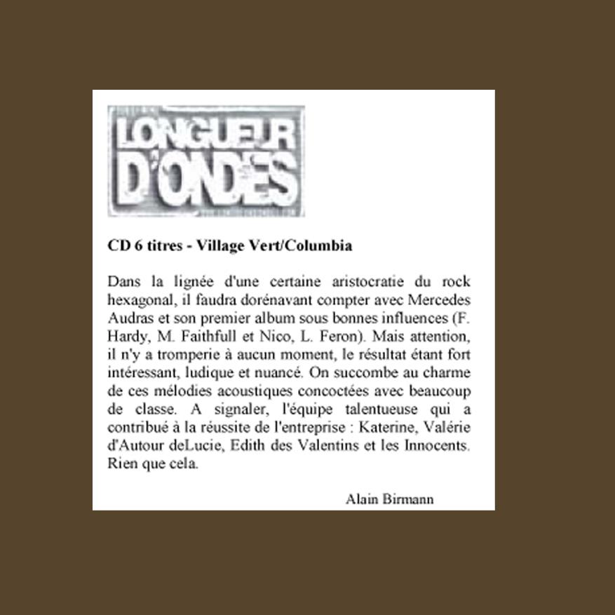 LONGUEUR+D+ONDES+FRANCE+1997