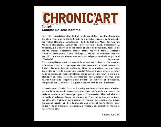 CHRONIC+ART+COMME+UN+SEUL+HOMME+98