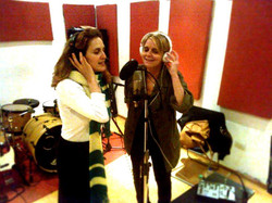 con Julieta Diaz