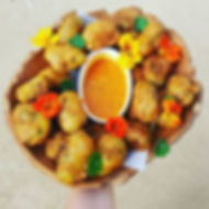 Cargo Catering Co. canapes bombay potato pakoras - Adelaide Catering