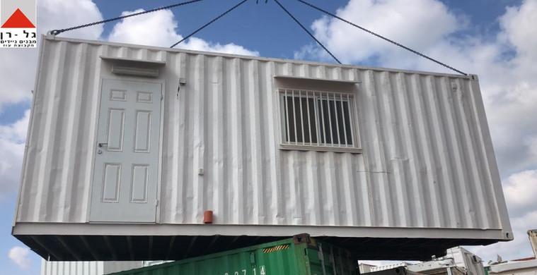 מכולת מגורים 8 מטר- חזית המבנה- יד שנייה