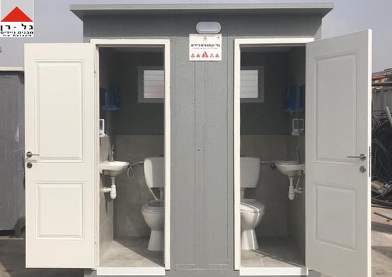 מבנה זוג תאי שירותים מפנל מבודד - דל