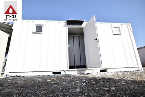 מכולת 6 תאי שירותים תאי טרספות כולל מבוא