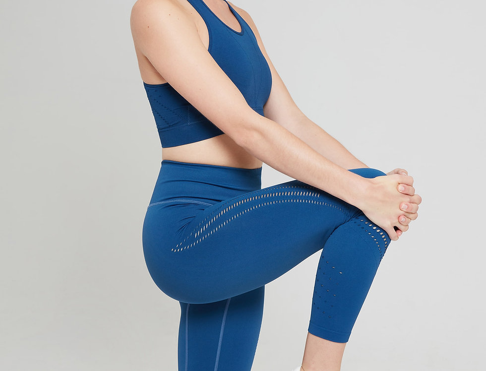 Jilla Active Aim High 7/8 Leggings - Deep Sea Blue
