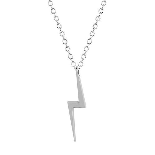 Harry Lightning Scar Necklace Silver