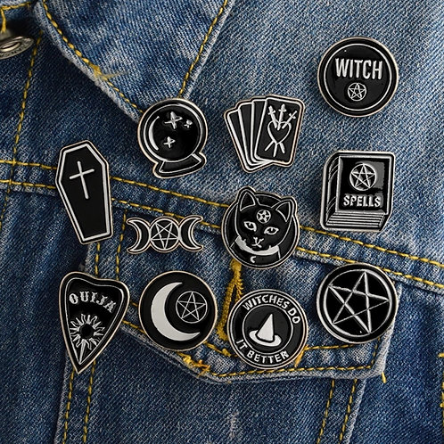 Wicca Witch Enamel Pin Badge Brooch Lapel Backpack