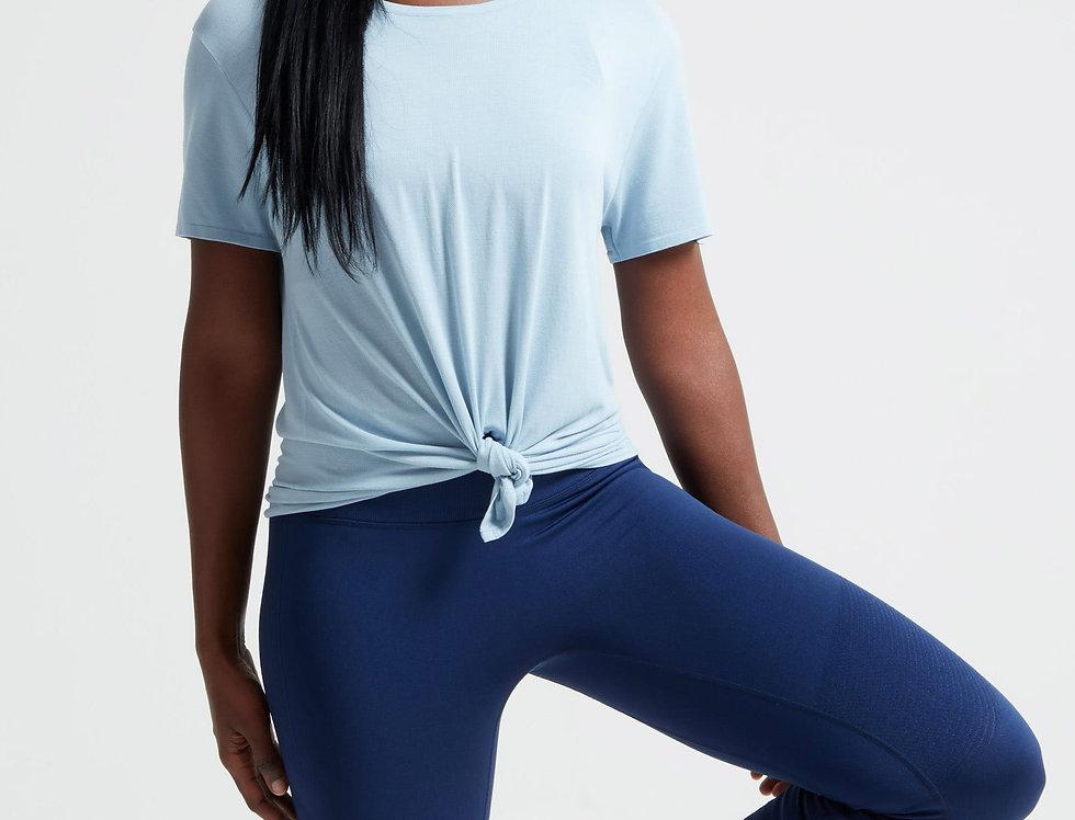 Jilla Easy Breezy Tie Bamboo T-shirt- Light Blue