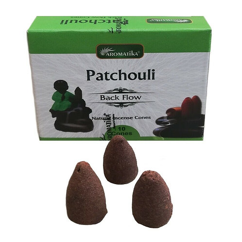 Aromatika Patchouli Back Flow Cones (pack of 10)