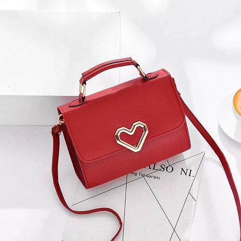 Heart Evening Shoulder Bag Red