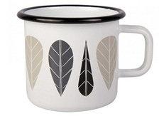 Leaves enamel mug 3,7 dl