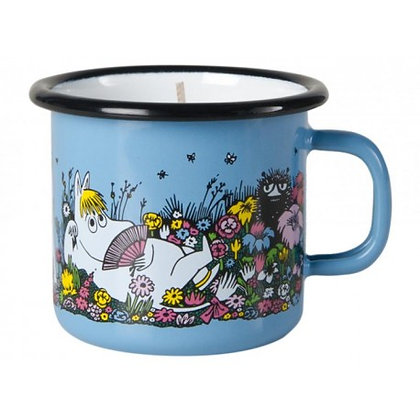 Moomin Enamel candle 2,5dl / 40h Shared Moment
