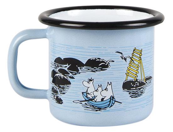 Moomin enamel mug, 1,5dl, Mellow Wind