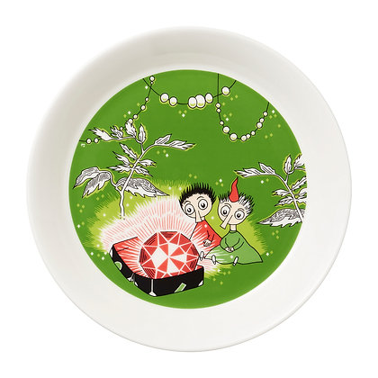 Muumit plate Tiuhti ja Viuhti 19 cm vihreä