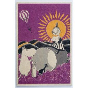 Moomin wooden postcard