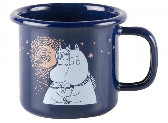 Moomin Winter romance Enamel Mug 1,5dl