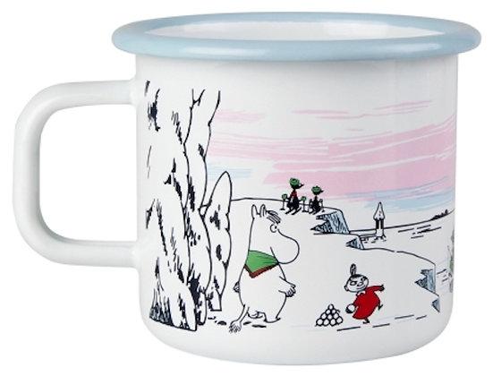 Muurla Moomin Enamel mug 3.7dl black Moomin Winter Time