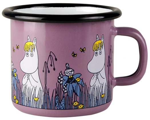 Snorkmaiden - Purple Moomin Muurla Enamel Mug - 2.5 cl