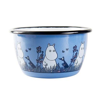 Muurla Moomin Enamel bowl 3dl blue Moomin Friends