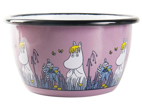 Muurla Moomin Enamel bowl pink 3dl Snorkmaiden Friends