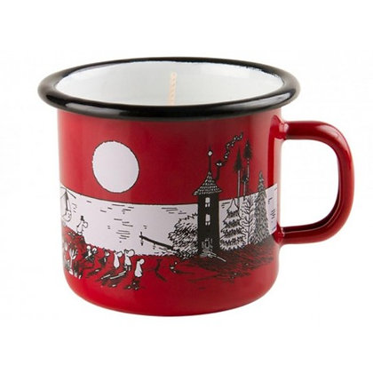 Moomin Enamel candle 2,5dl / 20h Night in Moominvalley