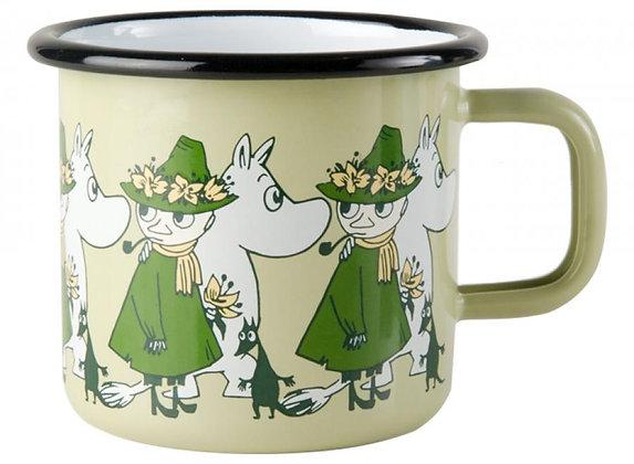 Muurla Moomin - Moomin and Snufkin Enamel Mug 3,7dl
