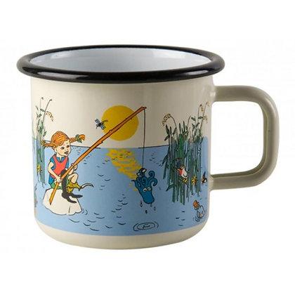 Pippi Longstocking On The Lake Enamel Mug 3,7 dl