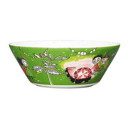 Muumit bowl Tiuhti ja Viuhti 15 cm vihreä