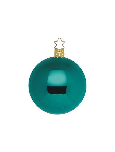 Blue Green Shiny 8cm Bauble - Handcrafted Inge Manufaktur