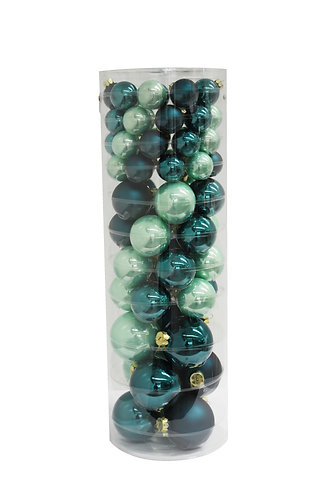 Emerald Green 65x Glass bauble Set
