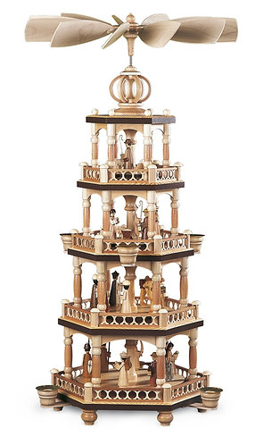 Müller Christmas Story 4-Tier Candle Pyramid