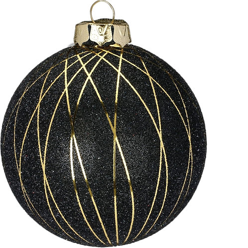 10cm Black Bauble