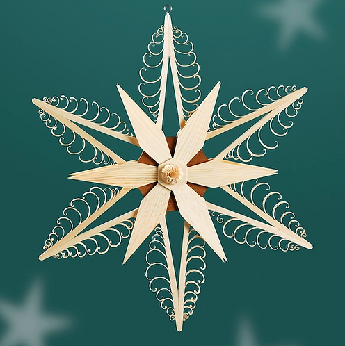 Natural Carved Tree Star + Natural Star