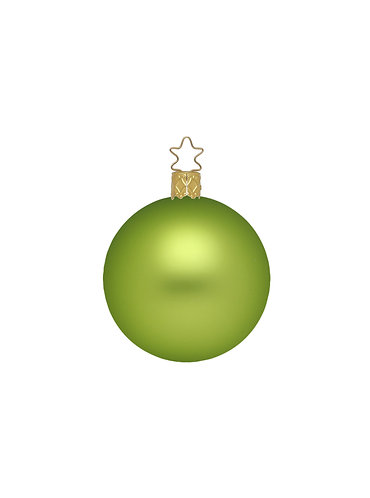 Apple Green Matt 8cm Bauble - Handcrafted Inge Manufaktur