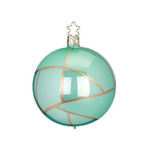 Tiffany Mint Green 8cm Bauble - Inge Glas