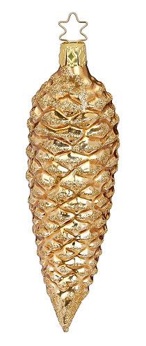 Metallic 14cm Fir Cone - Handcrafted Inge Manufaktur