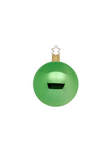 Mid Green Shiny 6cm Bauble - Handcrafted Inge Manufaktur
