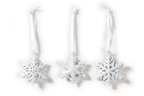 Metal Snowflakes set of 6
