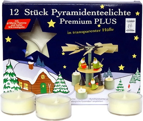 EWA Jeka Premium Tea Lights for Tea Light Pyramids